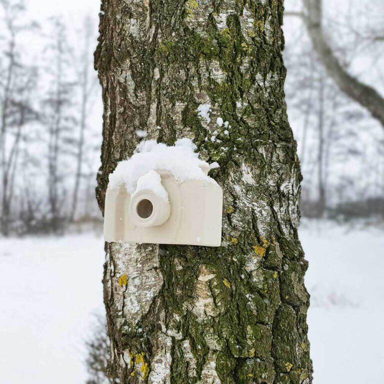 Wist je dat nestkastjes in de winter gebruikt worden door vogels die hier overwinteren? Ze zoeken warme schuilplaatsen en vogelhuisjes zijn daarvoor heel geschikt. Bovendien heb je een grote kans dat de winterbewoners in de lente daar hun nestje bouwen. Van dit vogelhuisje heb je dus het hele jaar plezier!